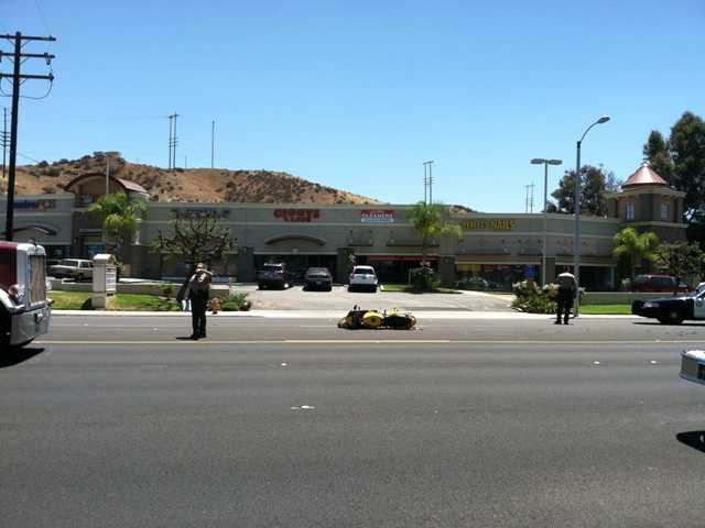 One injured in motorcycle crash near Bouquet Junction