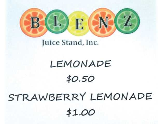 Kids host lemonade fundraiser