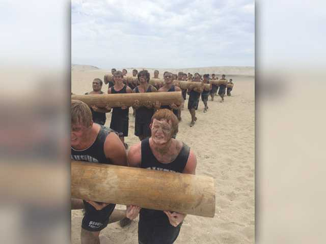 On the Beat: Saugus football trains with the SEALs