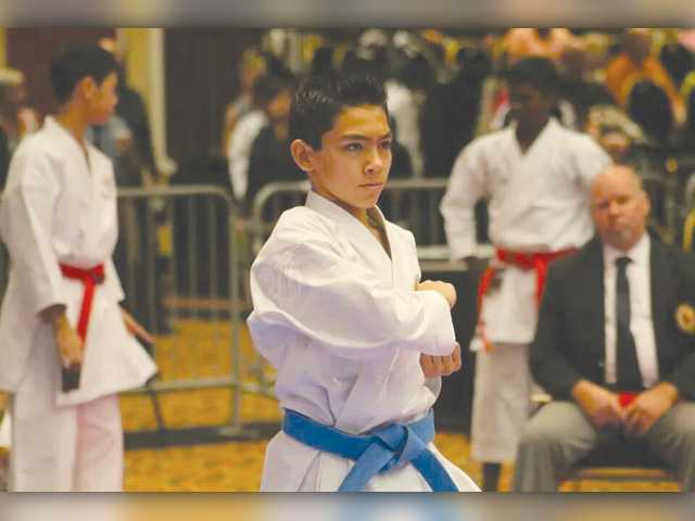 Two SCV boys excelling on the karate mat