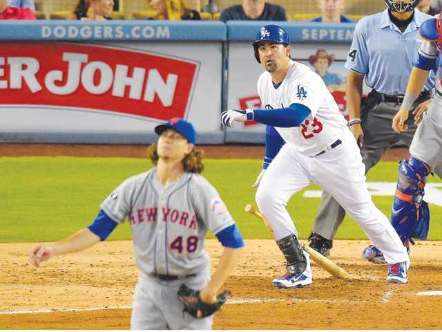 Gonzo's 5 RBIs lead Dodgers over Mets