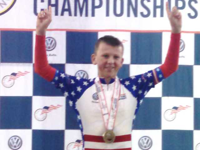 Local boy wins cycling national championship