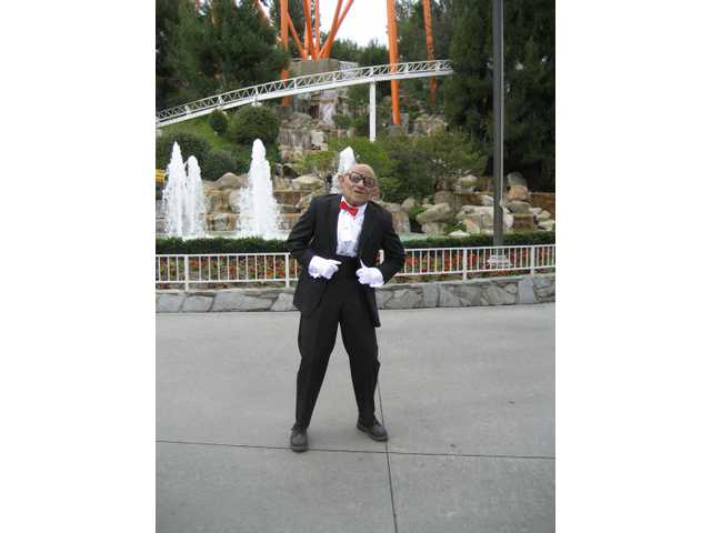 Mr. Six meets and greets at Six Flags Magic Mountain