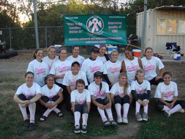 Puma softball team benefits Circle of Hope
