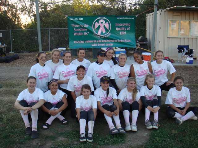 Puma softball team benefits Circle of Hope