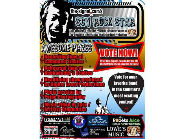 UPDATED: 'SCV Rock Star' online voting open through Sept. 7