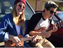 Locals Isaac Walker and Shayna Mulenger play an orignal song in Canyon Country