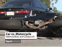 Signal News Now: Motorcyclist Injured In Collision With Car