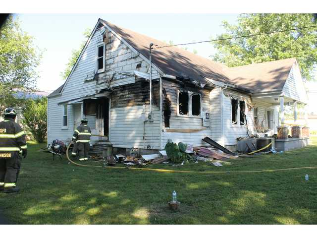 Fire damages home