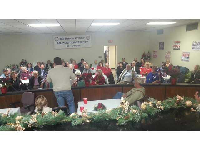Dems hold Christmas party
