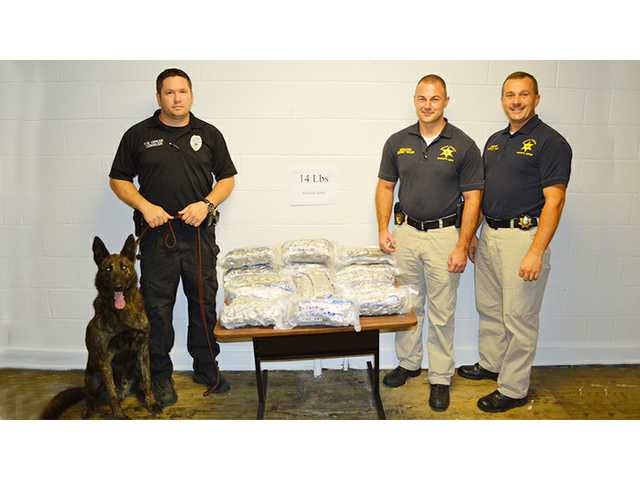 Man busted with 14 lbs. of pot