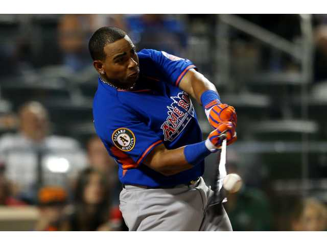 Cespedes wins again, beating Frazier in HR derby