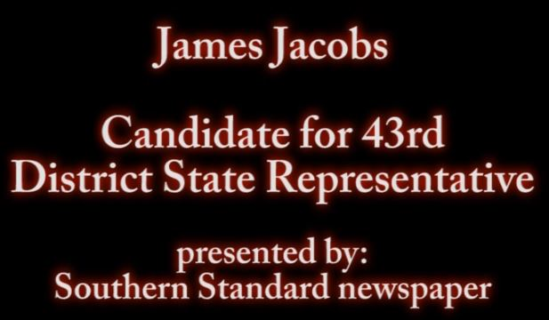 James Jacobs talks about state rep post