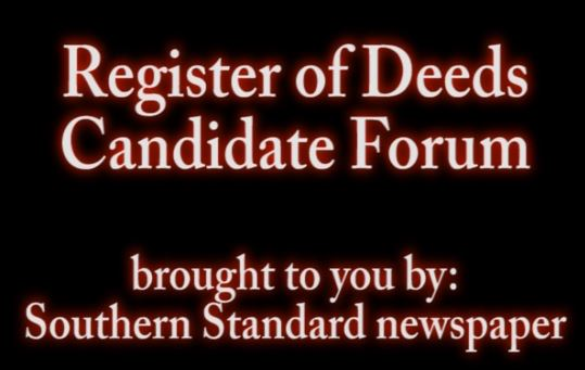 Register of Deeds forum