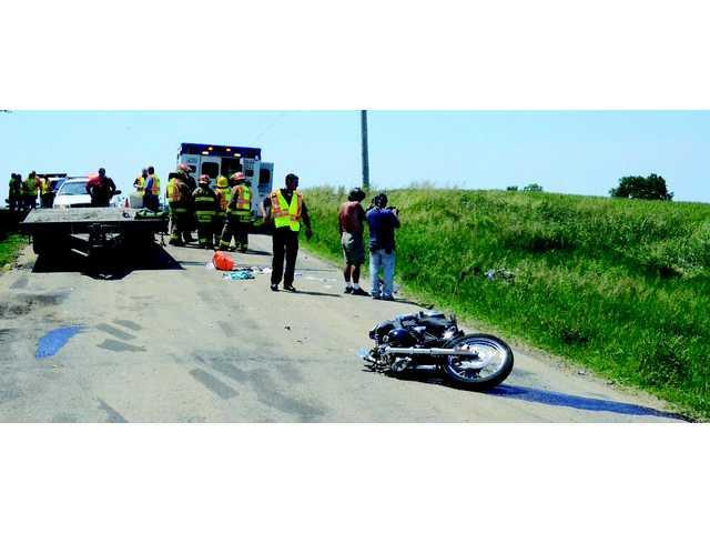 Two motorcycle crashes hurt four