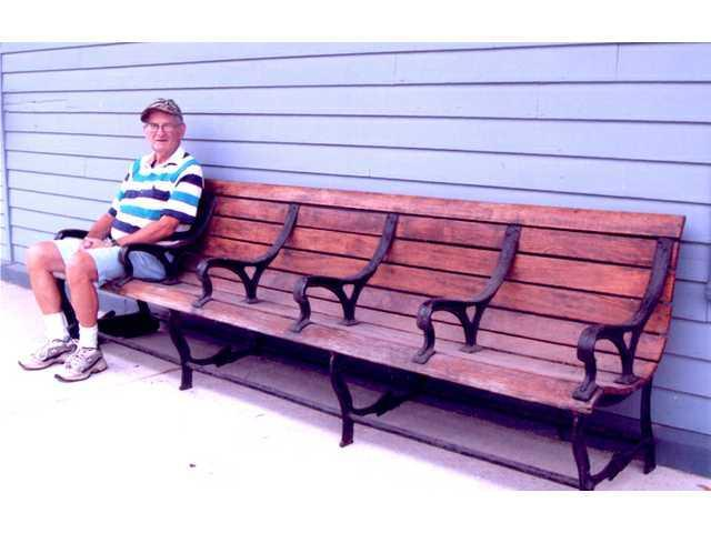 Railroad bench returns to Darlington