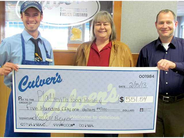 Culvers raises $550 in Mustache for Cash