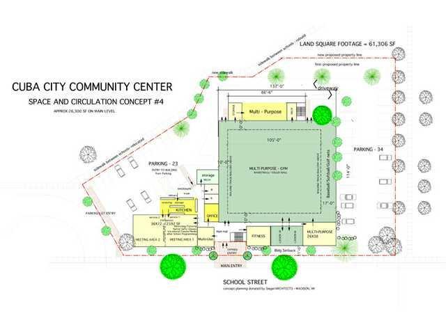 Community center proposed to replace the 'Pit'