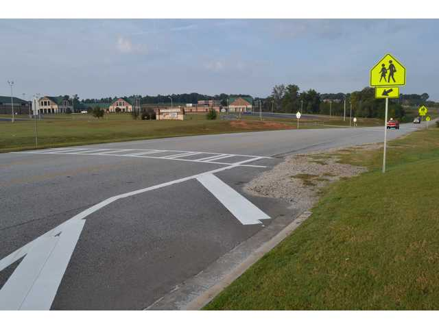 County adds signs, cross walks to road near Apalachee cluster