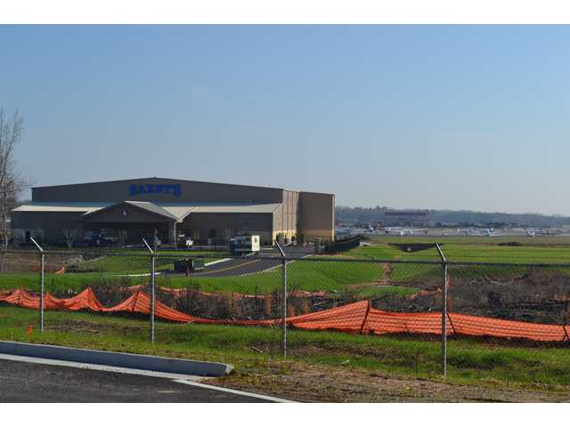 Zaxby's hangar at Barrow airport is almost finished