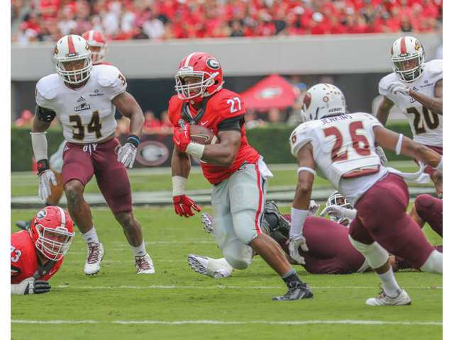 PHOTO GALLERY: Bulldogs start the season with a bang in curtailed win over UL-Monroe