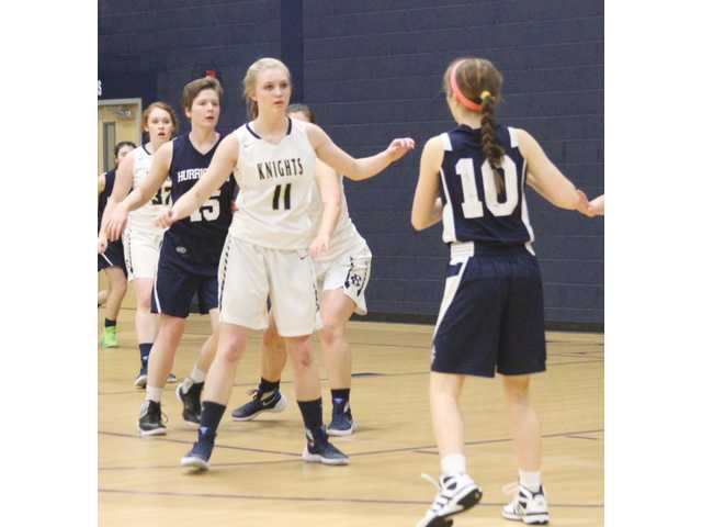Lady Knights unseated by torrential comeback