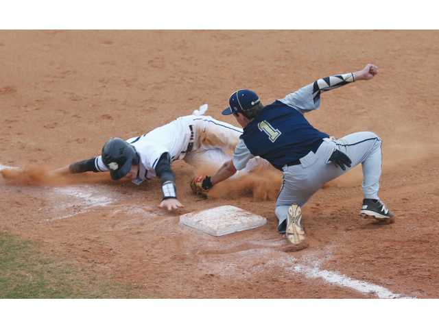 Knights come up short in rain-drenched loss to Loganville Christian