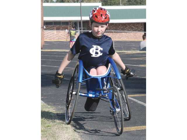 BCA's Lancaster turns in excellent times as school's only wheelchair athlete