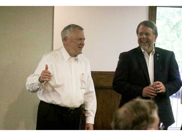 Gov. Deal stumps for Rep. England in Winder