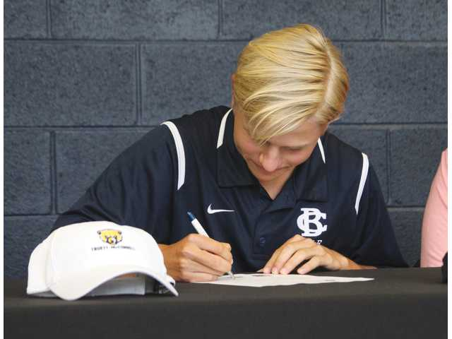 Knights excited to send three college athletes from BCA