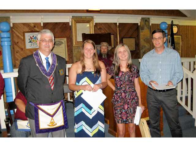 Local Masonic lodges award scholarships