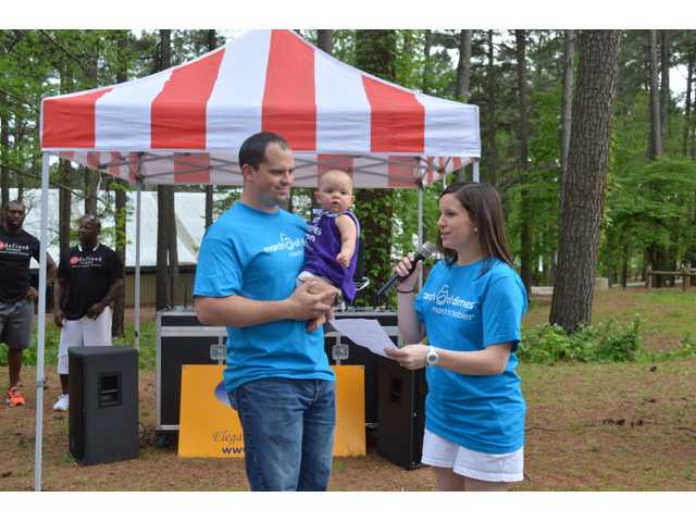 Over 200 people gathered at Fort Yargo State Park on Friday evening for the annual Barrow-Jackson Walk for Babies. It was a festive atmosphere with a serious side as participants walked to raise money for premature babies.
