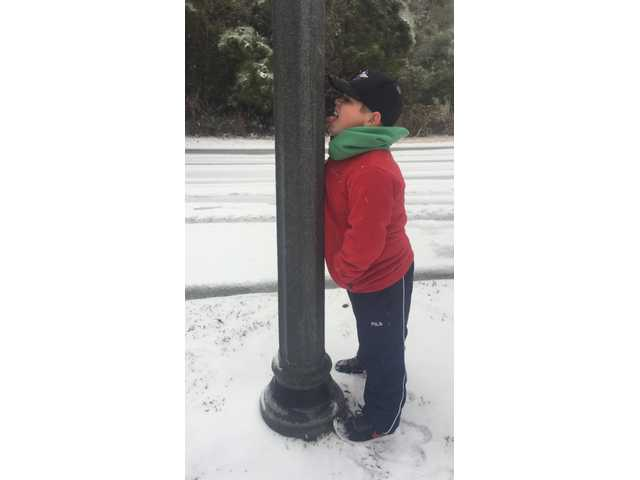 BRYAN COUNTY SNOW: Jack Shanholtzer, 10, of Richmond Hill