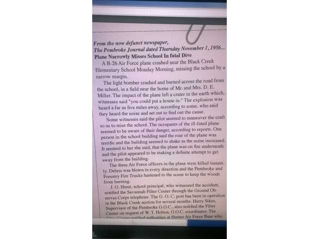 Bryan County Schools to honor B-26 crew from 1956 crash