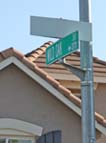 Eastgate street signs fading from view