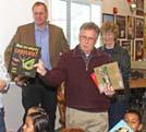 Denham brings books to Sinclear School