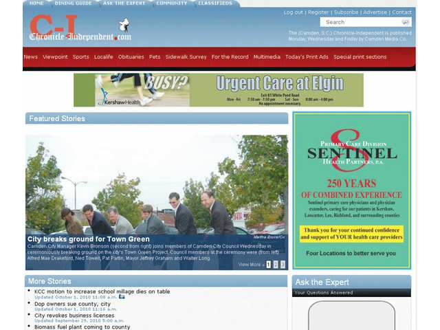 Chronicle-Independent, West Wateree Chronicle to launch full service websites