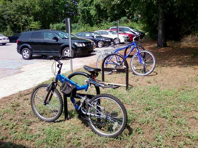 Eat Smart Move More Kershaw County has  bike racks installed to encourage healthy living