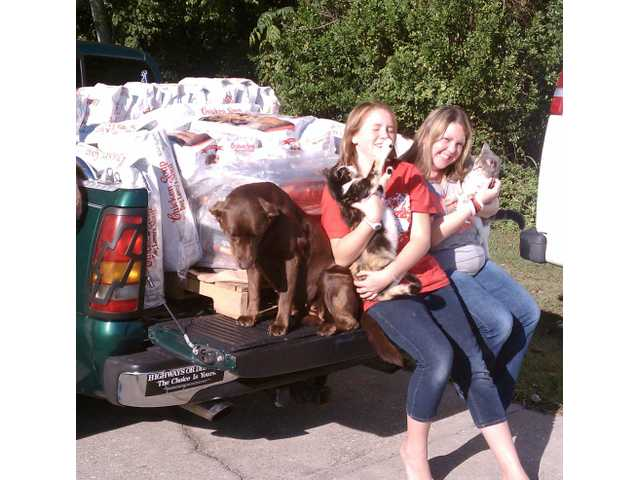 Stover sisters collect supplies for pets in need