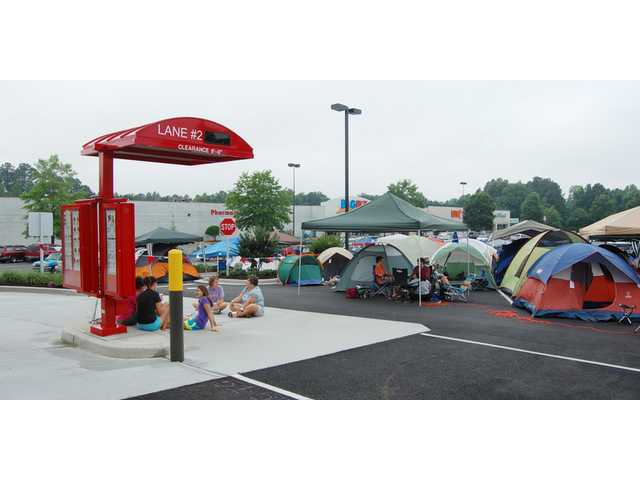Fans camp out for new Chick-Fil-A in Camden