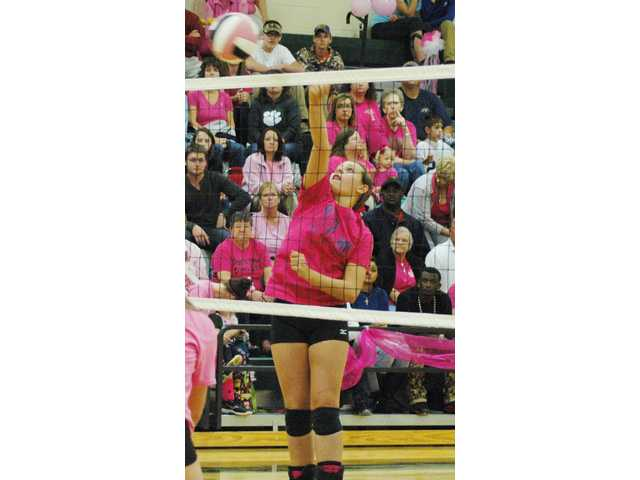 AJ downs Lady Knights in four sets