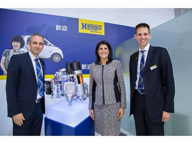 Haley visits Hengst at German motor show