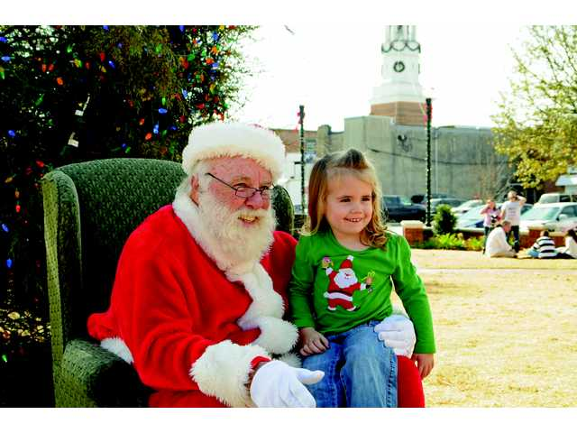 Santa Claus on the Town Green