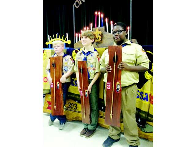 Cub Scouts receive 'Arrow of Light' award