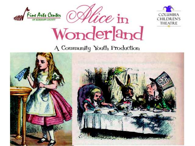 Auditions for Fine Arts Center's youth production of Alice in Wonderland