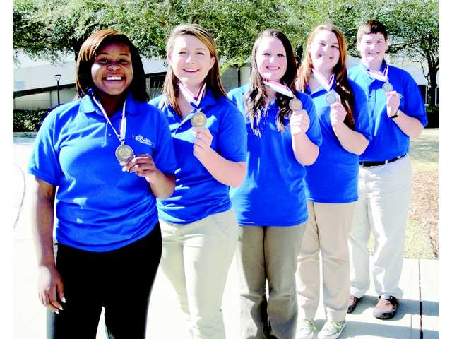 ATEC students honored at health conference