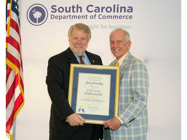 Camden's Jack Brantley honored by S.C. Department of Commerce