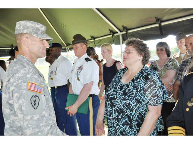 Bethune woman accepts late father's WWII POW medal