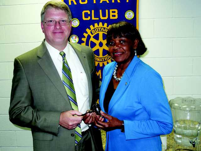Passing the Rotary Gavel