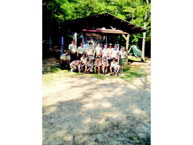 Troop 303 of Camden's good times at scout camp
